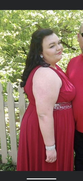 Red Size 20 Straight Dress on Queenly