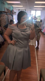 Queenly size 20  Silver Ball gown evening gown/formal dress