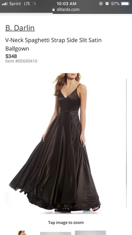Black Size 0 A-line Dress on Queenly