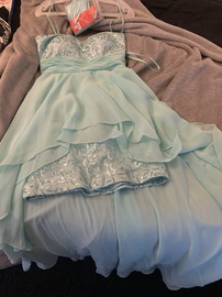 Dancing Queen Blue Size 4 Prom Homecoming Straight Dress on Queenly