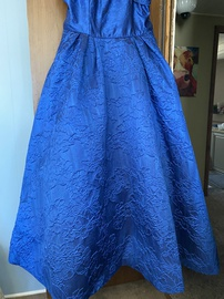 Rachel Allan Blue Size 22 Prom Plus Size Ball gown on Queenly