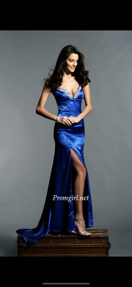 Tony Bowls Blue Size 4 Ball gown on Queenly
