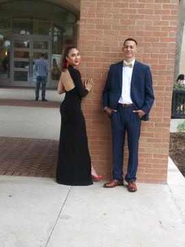 Windsor Black Size 4 Backless Side slit Dress on Queenly