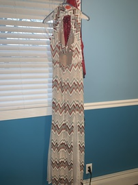 BCBG Multicolor Size 0 Plunge Prom Ball gown on Queenly