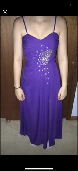 Queenly size 2  Purple Side slit evening gown/formal dress