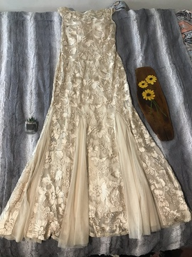 Nude Size 10 Straight Dress on Queenly