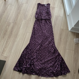Queenly size 6  Purple Ball gown evening gown/formal dress