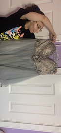 Terani Couture Blue Size 16 Plus Size Ball gown on Queenly