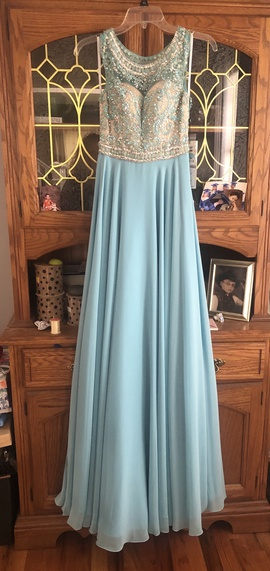 Queenly size 00 Alyce Paris Blue Straight evening gown/formal dress