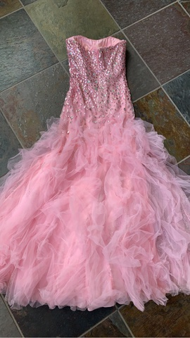 Sherri Hill Pink Size 4 Ball gown on Queenly