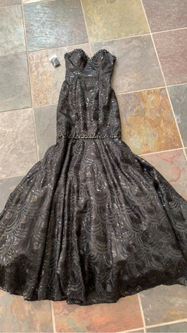 Mori Lee Black Size 2 Prom Corset Mermaid Dress on Queenly
