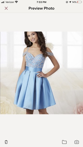 Tiffany Designs Blue Size 2 Cocktail Dress on Queenly