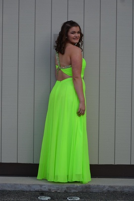 Splash Green Size 14 Tall Height One Shoulder Cut Out Straight Dress on Queenly