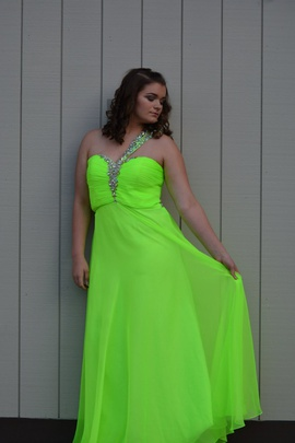 Queenly size 14 Splash Green Straight evening gown/formal dress