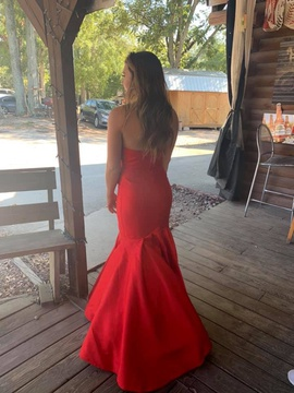 Rachel Allan Red Size 2 Medium Height Mermaid Dress on Queenly
