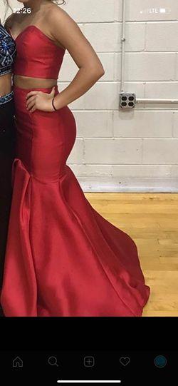 Queenly size 2 Rachel Allan Red Mermaid evening gown/formal dress
