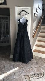 Sherri Hill Black Size 18 Plus Size A-line Dress on Queenly