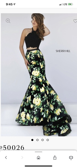 Queenly size 2  Multicolor Train evening gown/formal dress