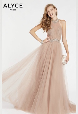 Alyce Paris Nude Size 14 Alyce Plus Size Ball gown on Queenly