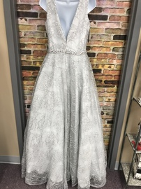 Envious Couture Silver Size 10 Ball gown on Queenly
