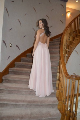 Queenly size 4  Pink Straight evening gown/formal dress