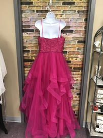 La Femme Pink Size 10 Ball gown on Queenly