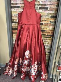 Blush Red Size 16 Halter Plus Size Ball gown on Queenly