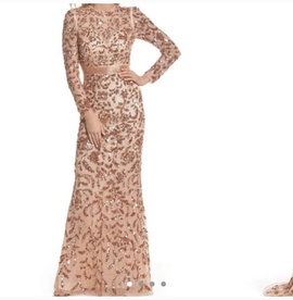 Queenly size 4 Mac Duggal Gold Straight evening gown/formal dress