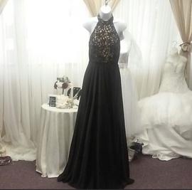 Alyce Paris Black Size 4 Halter Backless A-line Dress on Queenly