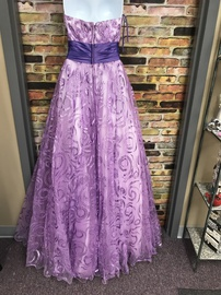 Alexia Paris Purple Size 00 Prom Strapless Ball gown on Queenly