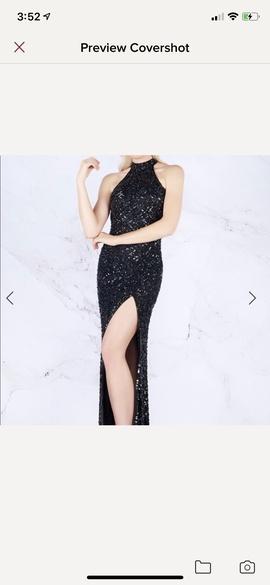 Queenly size 0  Black Side slit evening gown/formal dress