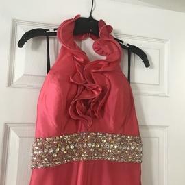Prima Donna Pink Size 12 Halter Plus Size Train Dress on Queenly