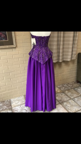 Mike Benet Formals Purple Size 10 Gold A-line Dress on Queenly