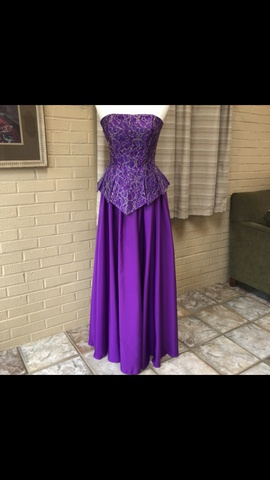 Queenly size 10 Mike Benet Formals Purple A-line evening gown/formal dress