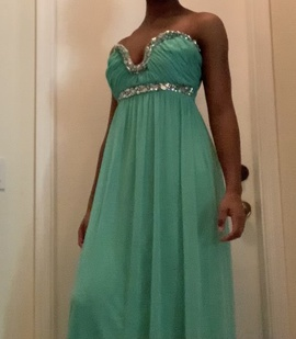 Queenly size 6  Blue Straight evening gown/formal dress