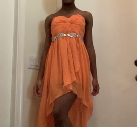 Orange Size 4 Straight Dress on Queenly