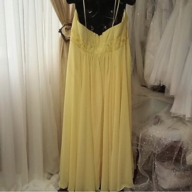Milano Formals Yellow Size 30 Strapless Plus Size A-line Dress on Queenly