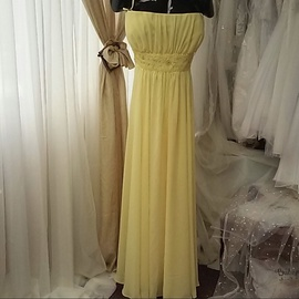 Queenly size 30 Milano Formals Yellow A-line evening gown/formal dress
