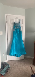 Queenly size 6 Jovani Blue Mermaid evening gown/formal dress