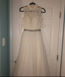 Queenly size 2 Sherri Hill White Straight evening gown/formal dress