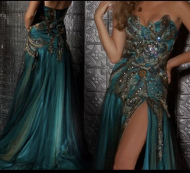 Queenly size 4 Mac Duggal Blue Straight evening gown/formal dress