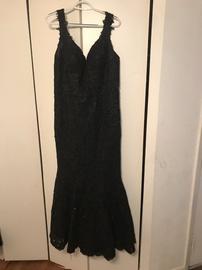 Sherri Hill Black Size 18 Medium Height Mermaid Dress on Queenly