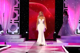 Jovani White Size 6 Jersey Straight Dress on Queenly