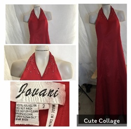 Jovani Red Size 4 Short Height Mermaid Dress on Queenly