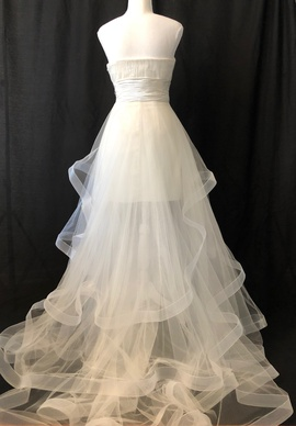 Sherri Hill White Size 2 Wedding Train Dress on Queenly