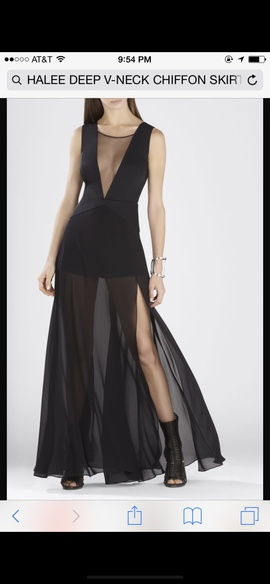 BCBG Black Size 2 Jumpsuit Ball gown on Queenly