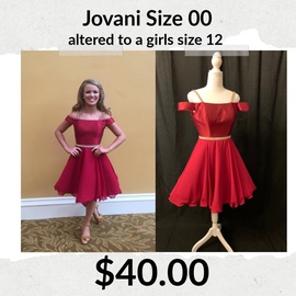 Jovani Red Size 00 Homecoming Cocktail Dress on Queenly