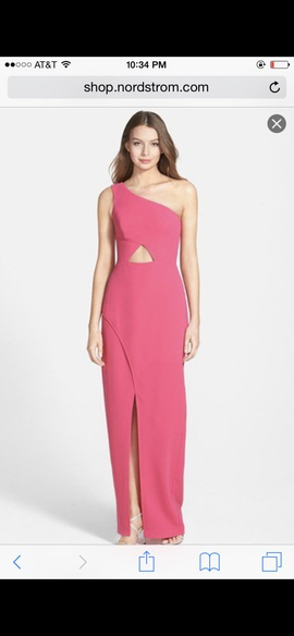 BCBG Pink Size 4 Cut Out Interview Side slit Dress on Queenly