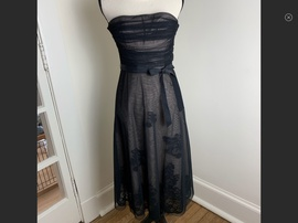 Queenly size 0 BCBG Black Cocktail evening gown/formal dress