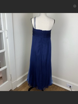 Jovani Blue Size 18 Plus Size Lace Navy Ball gown on Queenly